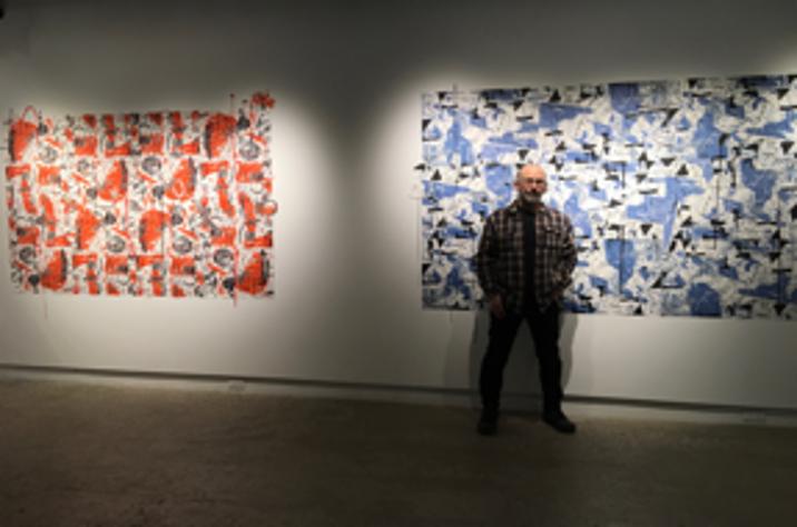 Daniel Sylvestre et son expo Surfaces à l'Atelier circulaire, 2018