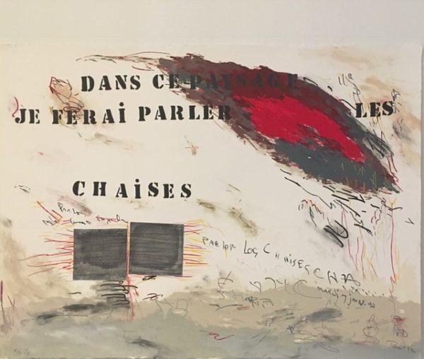 Louise Robert. Dans ce paysage je ferai parler les chaises,1992